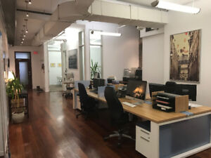 Loft-style Offices in Old Montreal (sublet)
