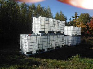 1000 liter totes  and 1300 liter totes