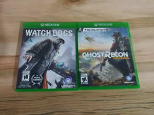 Xbox One - Watch Dogs / Ghost Recon Wildlands