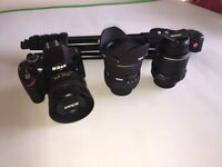 Nikon D3200 DSLR with 3 lenses and tripod