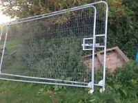 Heras fencing gate