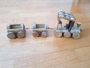 Hand Made Real Wood Train