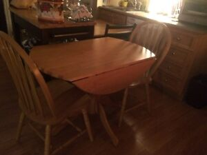 Drop leaf table and chairs for sale