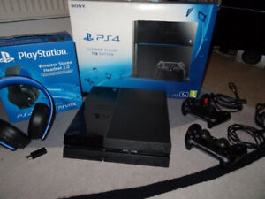 PS4 For Sale - 2 Controllers, Games and Headphones