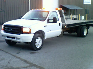 18 foot Tilt and Load Tow Truck 1999 F550 Fresh paint-Very clean