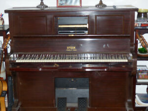 Steck Player Piano with rolls
