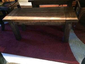Beautiful Rustic Solid Wood Benches ( 2 available)