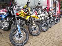 STOMP & DEMON X PIT BIKES NEW 110 120 125 140 160 ALL MODELS OFFICIAL DEALER