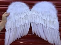 3 different pairs of feathered white wings - girls fancy dress
