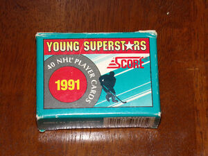 SCORE YOUNG SUPERSTARS 1991 40 NHL PLAYER CARDS