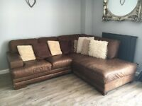Brown Corner Couch with matching two seater