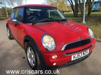 Mini one ,Ac,Mot,Hpi clear,2 owners,New clutch kit