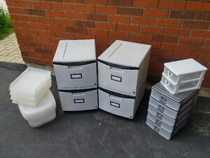 Mobile, Stackable File Drawers, & Office Organization Items
