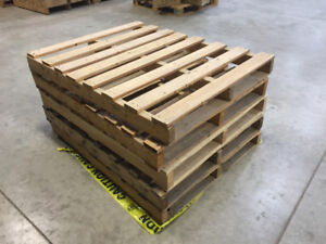 CERTIFIED WOOD PALLETS OR SKIDS - SIZE 36 BY 46