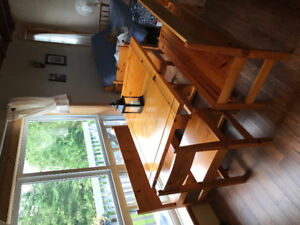 Custom made Solid wood not veneer Pine Table benches chairs