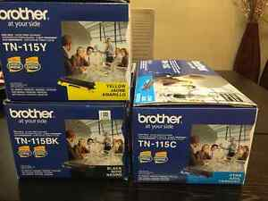 Brother Toners TN-115 Y, C and BK