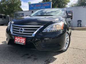 2015 Nissan Sentra 4dr Sdn back up camera heat seats accident fr