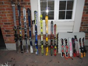 10 Pair of Downhill Skis Different Sizes