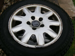 "15"" Snow Tires on Volvo Rims  195 65 R15"
