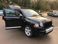 Jeep Compass 2.0CRD Limited 4x4. VOLKSWAGEN ENGINE. MOT, 12/2018. RARE IN BLACK!