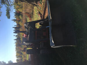 Older Massey with loader and 60 inch blower