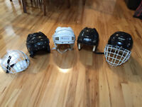 Various Hockey Helmets