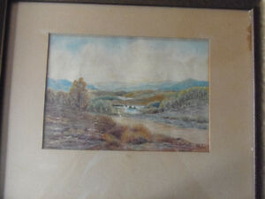 Charming Vintage Original Framed Watercolor painting 'Glengarry' London Ontario image 3