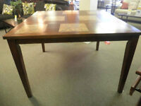 Ashley Ceramic & Wood Pub Style Dining Room Table