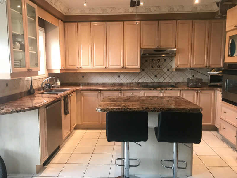 Kitchen cabinets and granite countertop for sale $5000 ...