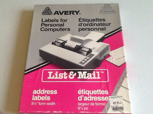 2,000 + LABELS-VARIOUS SIZES-WHITE-IN ORIGINAL BOX