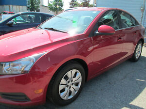 2014 Chevrolet Cruze LT sold with a safety certificate 186,000km