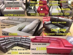 SECTIONAL AND COUCH CLEARANCE SALE.....SAVE 50-80% OFF RETAIL