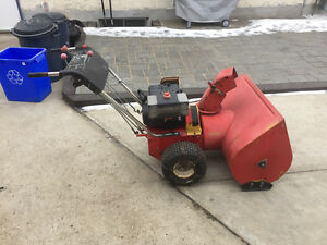 "32"" older gas snowblower"