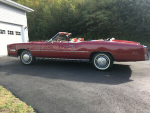 1975 Caddilac Eldorado. Red and white convertible from Arizona.