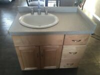 Bathroom Vanity, sink & taps