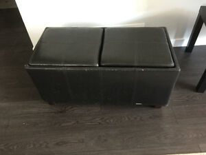 Ottoman convertible to coffee table