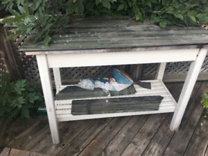 Work Bench/Table w/ Marble Top