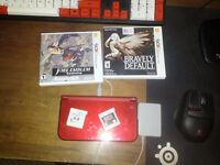 new 3ds xl with 2 games