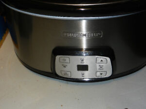 Black and Decker crock pot slow cooker