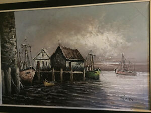 Original oil painting by East coast artist Florence