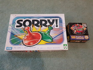 Sorry Board Game & 100 Piece Puzzle