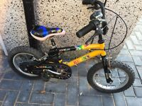"""Childs bike with 14"""" wheels works well only £12"""