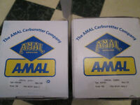 2 - Amal 30 mm carbs (1 Left - 1 Right)