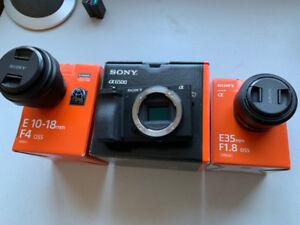 Sony a6500 Mirrorless Camera. 10-18f4, 35f1.8, SmallRig, SmallHD