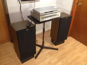 Sony and Yamaha 60 Watt Vintage Home Stereo