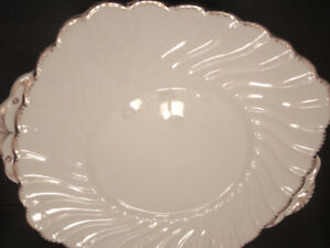 Old Grecian Flute Serving Plate
