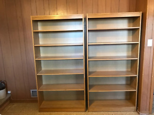 2 Solid wood book cases
