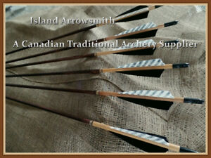 Traditional Custom made Wooden Arrows