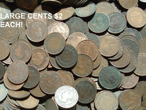 COINS LARGE CENTS NEWFOUNDLAND AND MORE SUNDAY APRIL 22