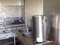 Burger van with equipment